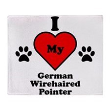 I Heart My German Wirehaired Pointer Stadium Blan