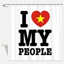 I Heart (Love) My Viet People Shower Curtain