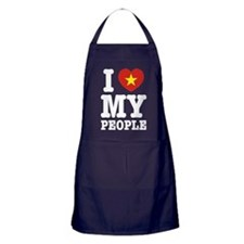 I Heart (Love) My Viet People Apron (dark)