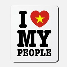 I Heart (Love) My Viet People Mousepad