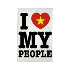 I Heart (Love) My Viet People Rectangle Magnet