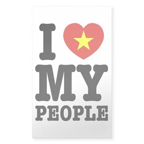 I Heart (Love) My Viet People Sticker