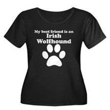 Irish Wolfhound Best Friend Plus Size T-Shirt