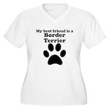 Border Terrier Best Friend Plus Size T-Shirt