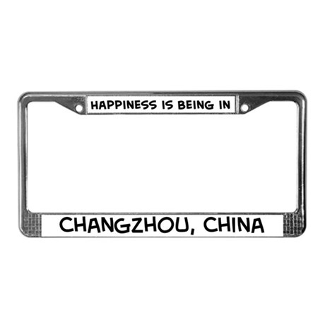 Happiness is Changzhou License Plate Frame