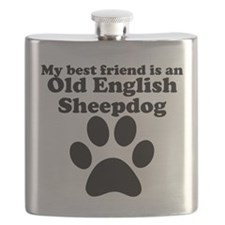 Old English Sheepdog Best Friend Flask