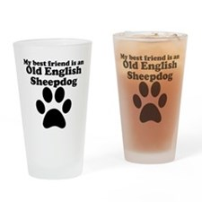 Old English Sheepdog Best Friend Drinking Glass