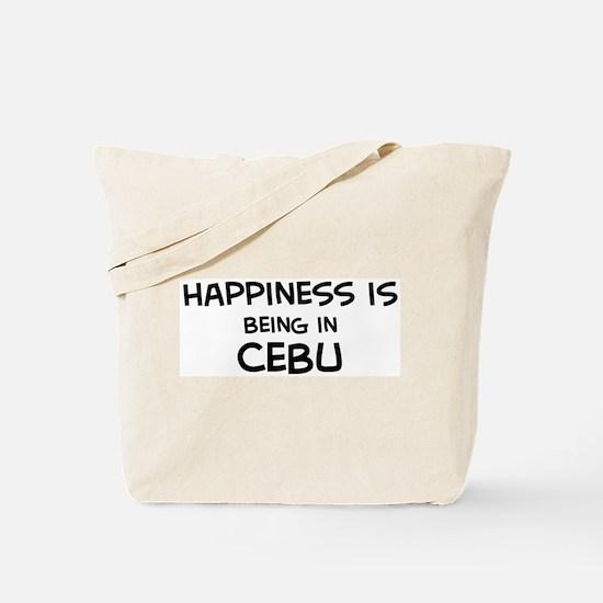 Happiness is Cebu Tote Bag