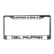Happiness is Cebu License Plate Frame