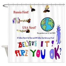 Meteor Asteroid Earth Shower Curtain