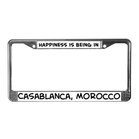 Happiness is Casablanca License Plate Frame