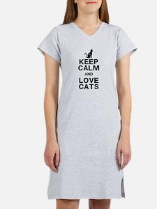Keep Calm Love Cats Women's Nightshirt