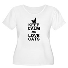 Keep Calm Love Cats Plus Size T-Shirt