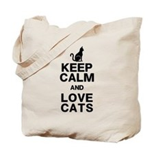 Keep Calm Love Cats Tote Bag