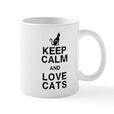 Keep Calm Love Cats Mug