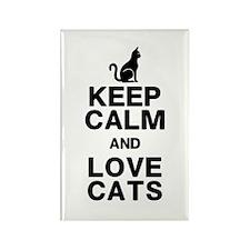 Keep Calm Love Cats Rectangle Magnet