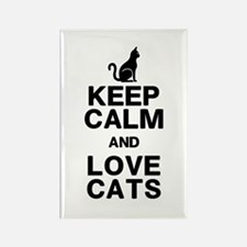 Keep Calm Love Cats Rectangle Magnet