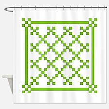 mod irish quilt Shower Curtain