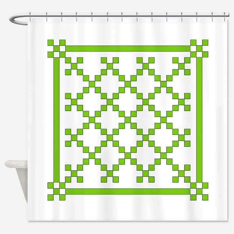 mod irish quilt Shower Curtain