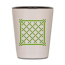 mod irish quilt Shot Glass
