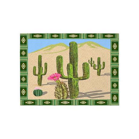 Desert Cactus 5'x7'Area Rug