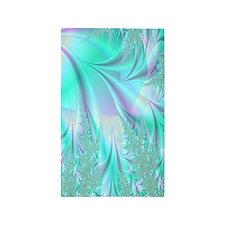 Aqua Lavender 3'x5' Area Rug