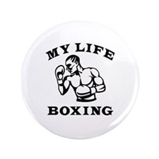 """My Life Boxing 3.5"""" Button"""