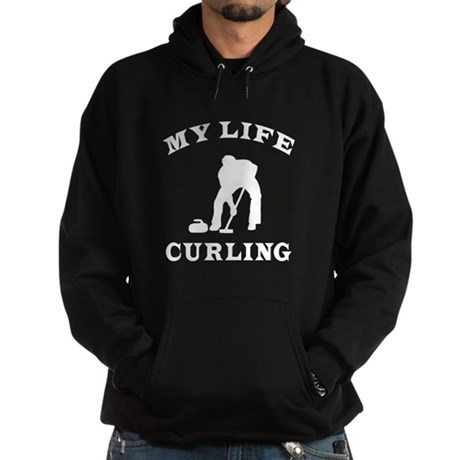 My Life Curling Hoodie (dark)
