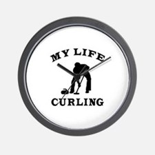 My Life Curling Wall Clock