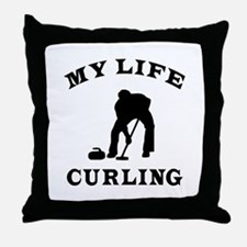 My Life Curling Throw Pillow