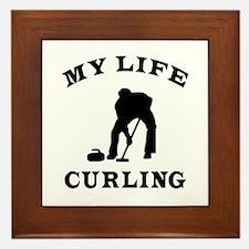 My Life Curling Framed Tile