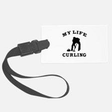My Life Curling Luggage Tag