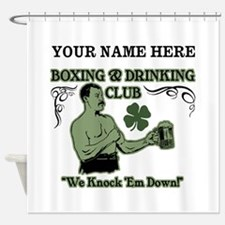 Personalizable Irish Club Shower Curtain