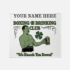 Personalizable Irish Club Throw Blanket
