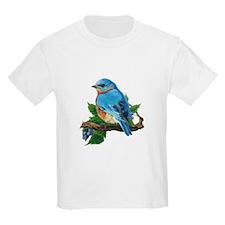 """Ash Grey T-Shirt """"Berry Bluebird"""" T-Shirt"""