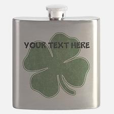 Personalizable Vintage Shamrock Flask
