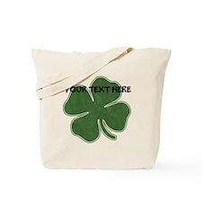 Personalizable Vintage Shamrock Tote Bag
