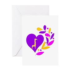 Giraffe Heart Greeting Card