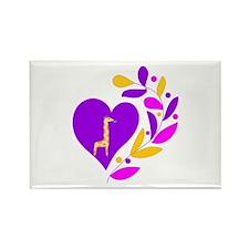 Giraffe Heart Rectangle Magnet (10 pack)