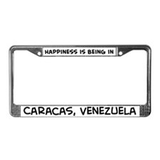 Happiness is Caracas License Plate Frame