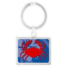 Crab Landscape Keychain