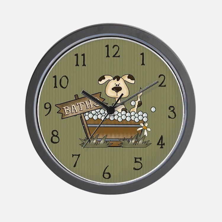 Cute Christmas bath Wall Clock