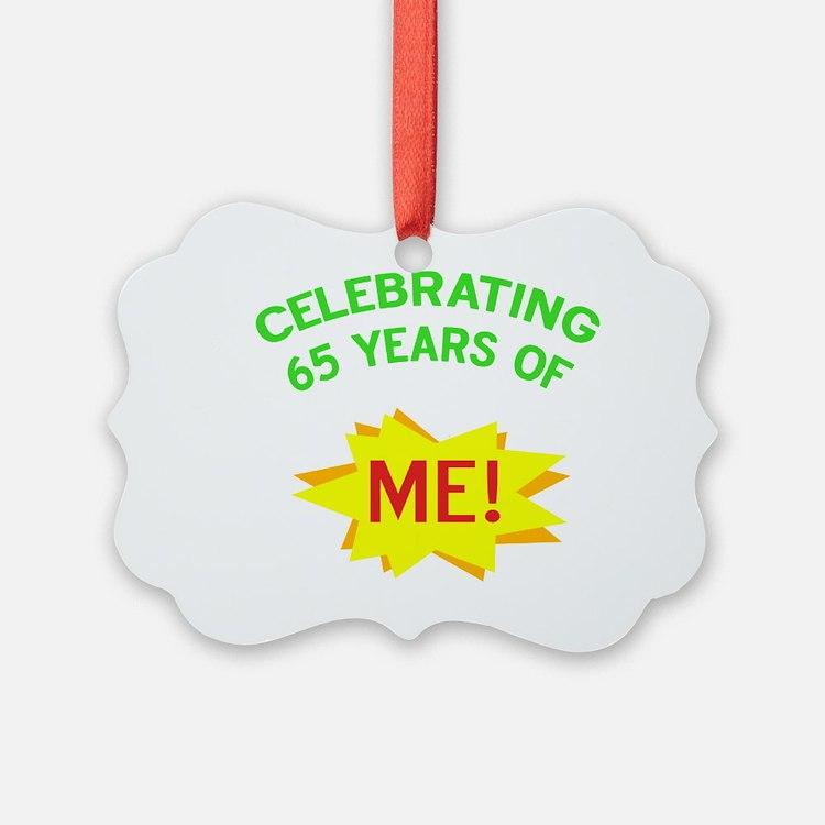 Celebrate My 65th Birthday Ornament