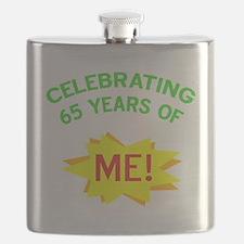 Celebrate My 65th Birthday Flask