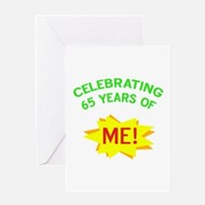 Celebrate My 65th Birthday Greeting Card