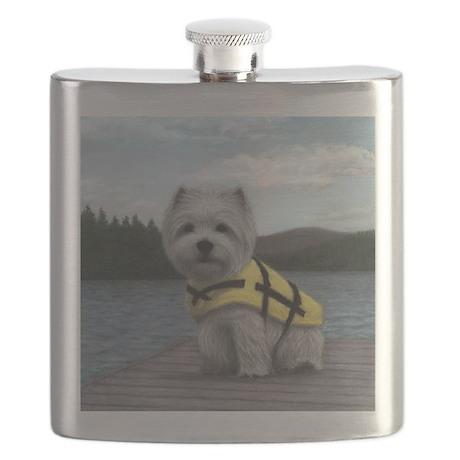 Truman at the Lake Flask