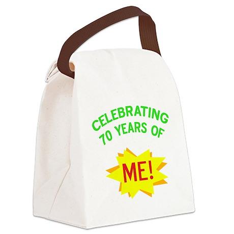 Celebrate My 70th Birthday Canvas Lunch Bag