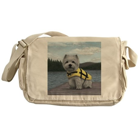 Truman at the Lake Messenger Bag