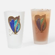 Bejeweled Butterfly Drinking Glass