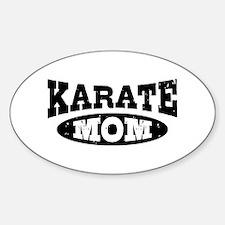 Karate Mom Sticker (Oval)